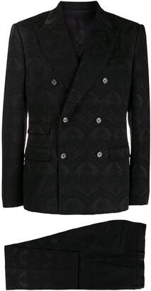 damask three piece suit