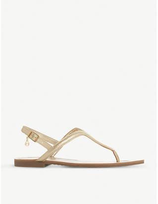 Dune Linq metallic faux-leather sandals