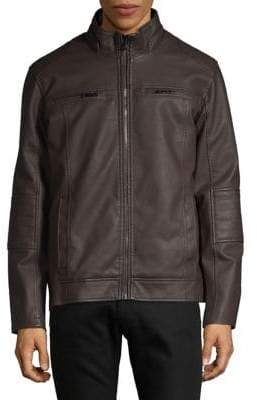 Buffalo David Bitton Quilted Patch Zip-Up Jacket