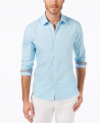 Ryan Seacrest Distinction Ryan Seacrest DistinctionTM Men's Slim-Fit Tile-Print Sport Shirt, Created for Macy's