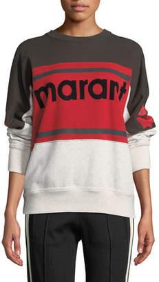 Etoile Isabel Marant Gallian Logo Colorblock Sweatshirt