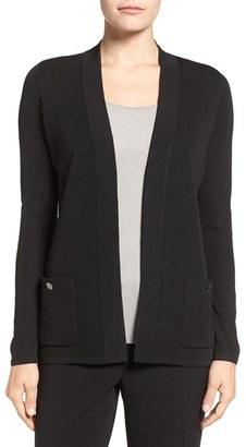 Women's Anne Klein Patch Pocket Cardigan $89 thestylecure.com