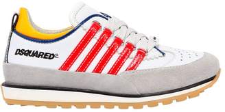 DSQUARED2 251 Patent Stripes Leather Sneakers
