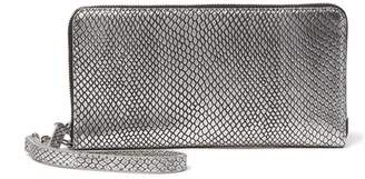 Halogen Leather Zip Around Wallet