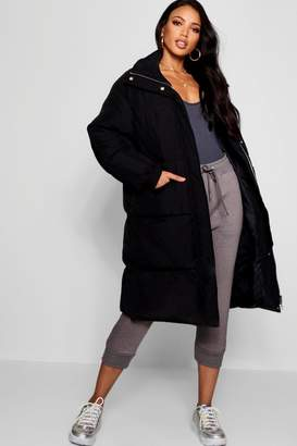 boohoo Longline Puffer Jacket