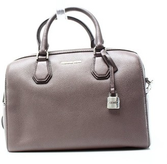 d42c4f3b0306 at Walmart.com · Michael Kors NEW Gray Cinder Pebble Leather Mercer Satchel Bag  Purse