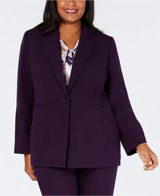 Nine West Plus Size One-Button Blazer