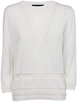Rochas Lace Detail Sweater