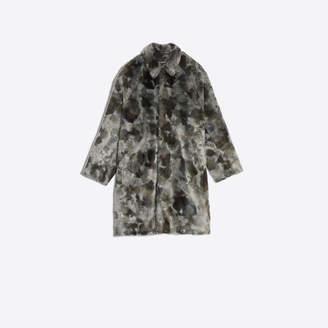 Balenciaga Longline fake fur coat