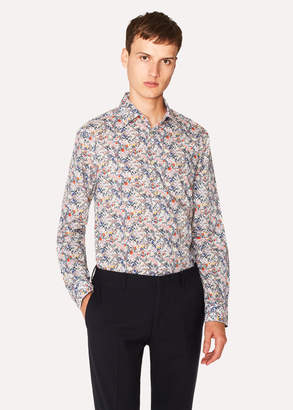 Paul Smith Men's Tailored-Fit White Liberty Floral Print Shirt