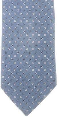 Salvatore Ferragamo Button Print SIlk Tie