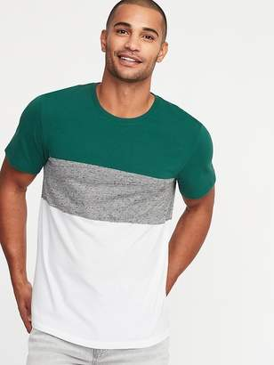 Old Navy Pieced Color-Block Crew-Neck Tee for Men