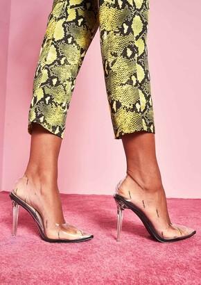 58d079524e4 Missy Empire Missyempire Kourtney Black Slogan Perspex Pointed Heels
