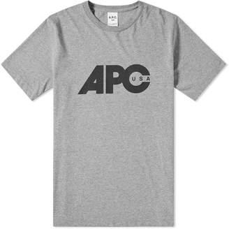 A.P.C. Johnny USA Logo Tee