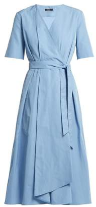 Max Mara Gene Wrap Dress - Womens - Light Blue