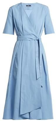Max Mara Gene Wrap Dress - Womens - Light Blue