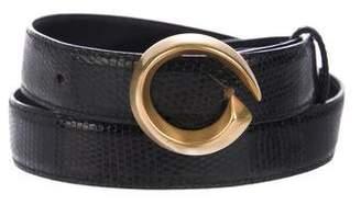 Gucci Vintage Lizard Belt