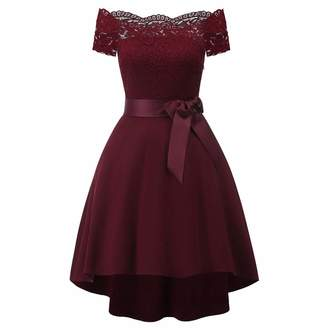 Changeshopping Blouse Women Mini Dress,Lace Prom Evening Party Cocktail Bridesmaid Gown Changeshopping