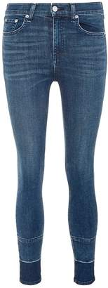 Rag & Bone Let-out cuff cropped skinny jeans
