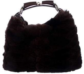 Gucci Small Fur Horsebit Bag