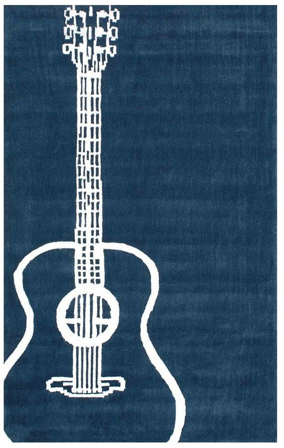 Blue Acoustic Guitar Rug