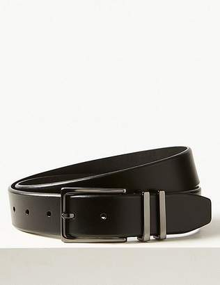 Marks and Spencer Leather Double Metal Keeper Smart Belt