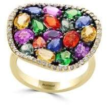 Effy Watercolors Multi-Stone 14K Yellow Gold Ring, 0.24 TCW