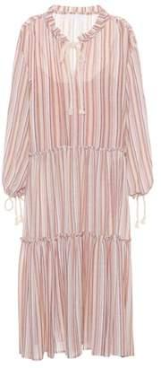 See by Chloe Striped wool-blend dress