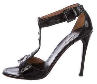 Alaia Brogue T-Strap Sandals