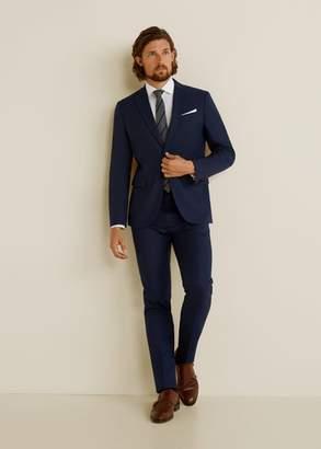 MANGO MAN - Slim-fit Tailored stretch cotton shirt white - XXS - Men