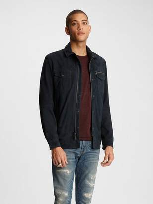John Varvatos Shilo Suede Shirt Jacket