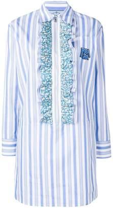 Prada ruffle-trimmed long shirt