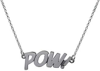 Edge Only - Pow Letters Necklace Large in Silver