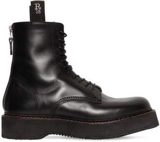 R 13 50mm Platform Leather Combat Boots