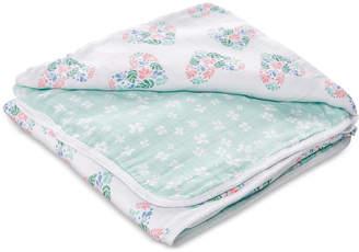 Aden Anais aden by aden + anais Baby & Toddler Girls Floral Heart Printed Cotton Blanket
