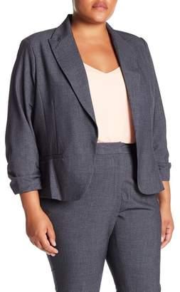 Amanda & Chelsea Ruched Sleeve Blazer (Plus Size)