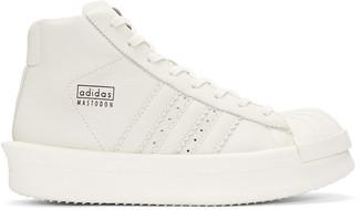 Rick Owens White adidas Edition Mastodon Pro Sneakers $1,000 thestylecure.com