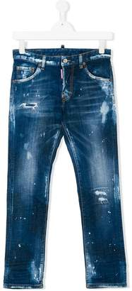 DSQUARED2 bleach skinny jeans