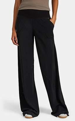 Rick Owens Women's Grommet-Embellished Silk Wide-Leg Pants - Black