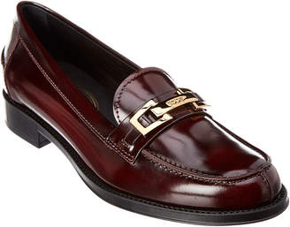 Tod's Buckled Penny Bar Leather Loafer