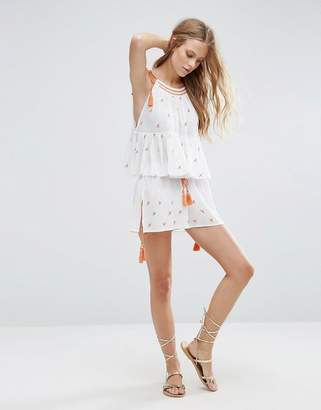 Asos DESIGN Beach Two-piece Embroidered Short