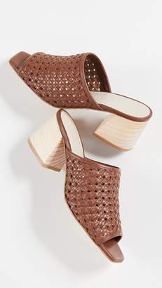 Freda Salvador Pia Woven Block Heel Sandals