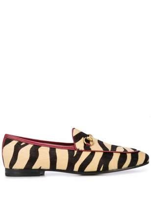 Gucci Jordan Zebra Print Loafers