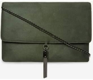 Dorothy Perkins Womens Green Metal Tassel Clutch Bag