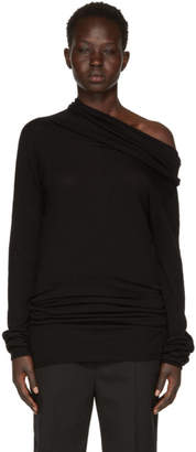 Rick Owens Black Dropped Neck Pullover