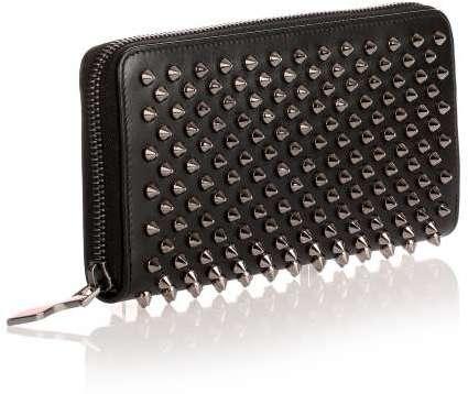 Christian Louboutin Christian Louboutin Panettone black gunmetal spikes wallet