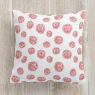 Painted Rose Self-Launch Square Pillows