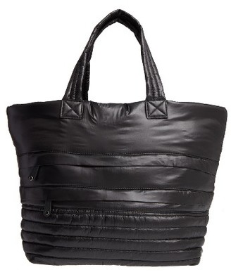 Sondra Roberts Quilted Nylon Tote - Black $98 thestylecure.com