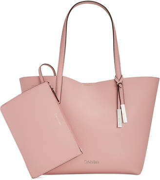 Calvin Klein Key Item Medium Tote with Pouch $128 thestylecure.com
