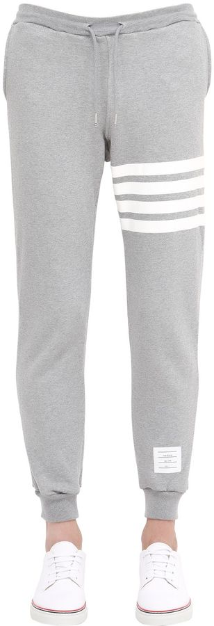 Stripes Printed Cotton Jogging Pants